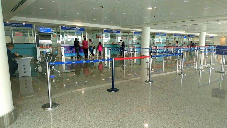 Зона паспортного контроля, Аэропорт Тбилиси, Грузия