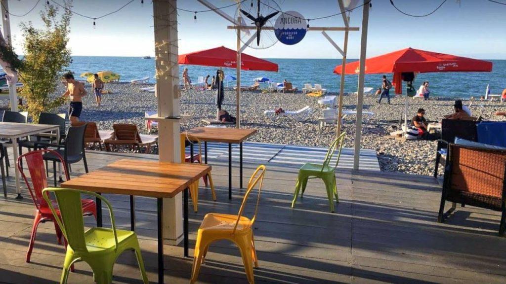 Кафе Ancora Batumi, пляжи Батуми, Грузия,