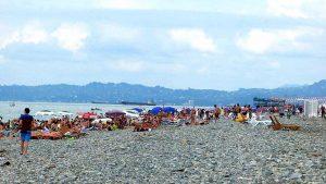 Насыщенность городского пляжа в сезон, городской пляж, Батуми, Грузия
