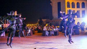 Народные грузинские танцы в отеле, Colosseum Marina Hotel, Батуми, Грузия
