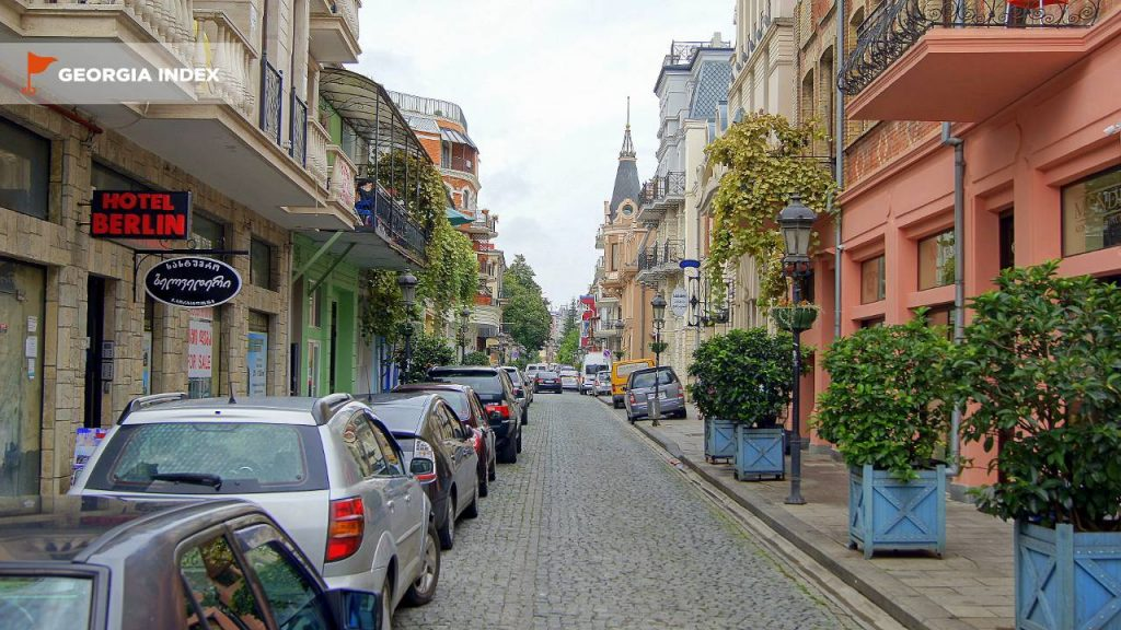 Мощеные улочки старой части города, старый город Батуми, Грузия