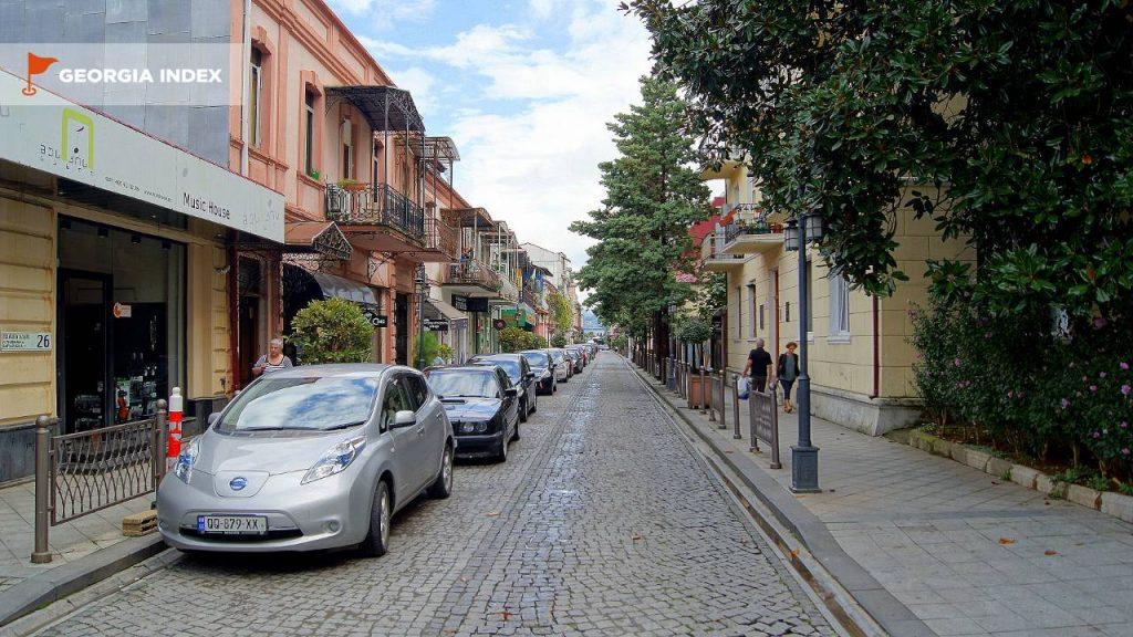 Архитектура старого города, старый город Батуми, Грузия