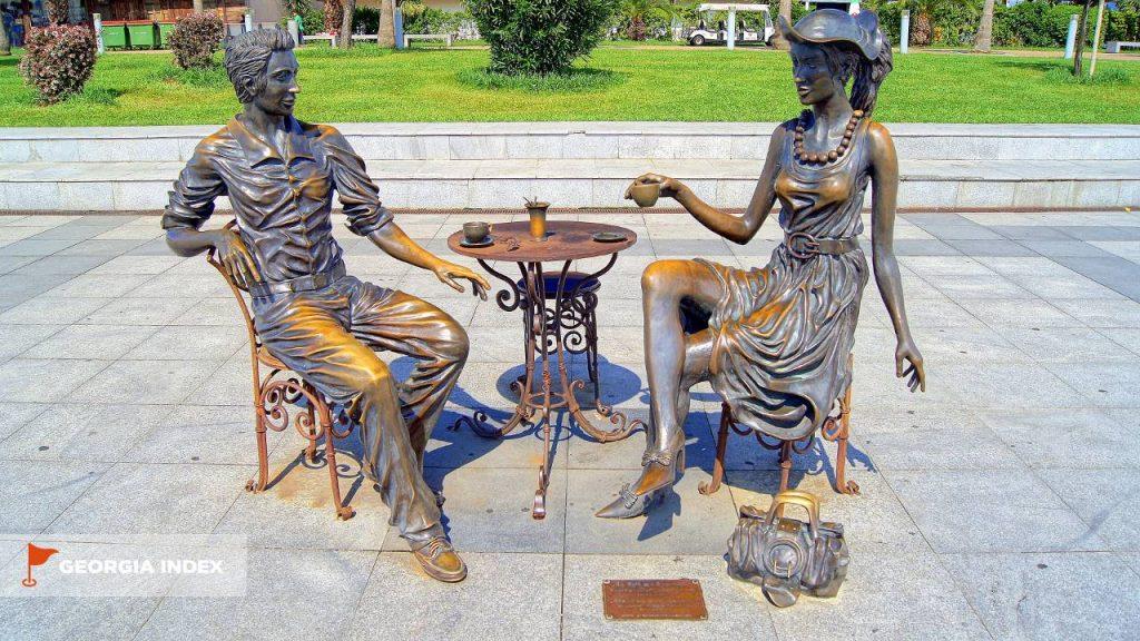 Кованные скульптуры, парк чудес Батуми, Грузия