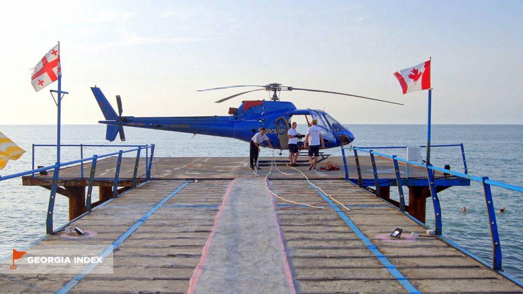 Экскурсия на вертолете, набережная Батуми, Грузия