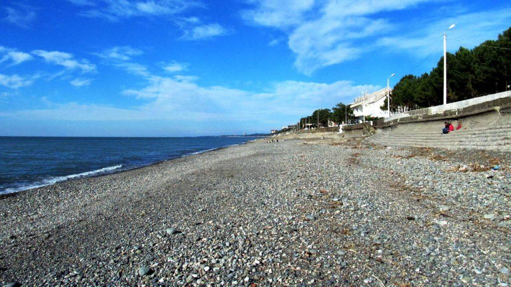Длинная полоса пляжа Кобулети, Кобулети, Грузия