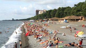 Широкий пляж Кобулети, Кобулети, Грузия