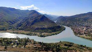 Слияние рек Арагви и Куры, Мцхета, Грузия