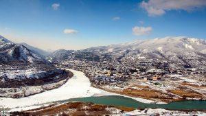 Зимний пейзаж города Мцхета, Мцхета, Грузия