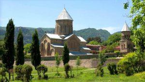 Общий вид на монастырь Самтавро, Мцхета, Грузия