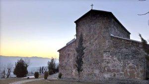 Зедазенский монастырь, вид сзади, Мцхета, Грузия