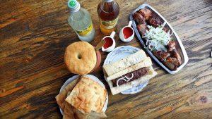 Еда в ресторане Salobie , Мцхета, Грузия