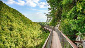 Горные пейзажи в национальном парке, Национальный парк Мтирала, Батуми, Грузия