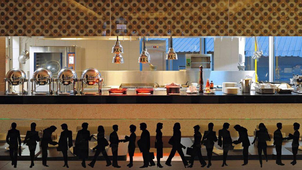 Шведский стол в ресторане Et'im, Radisson Blu Batumiotel, Батуми, Грузия