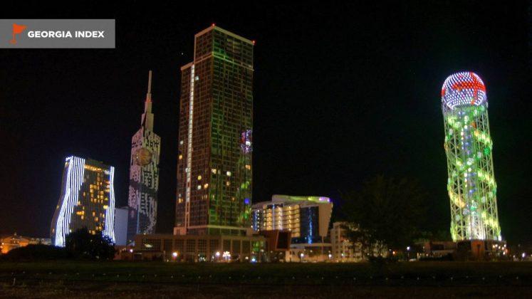 Ночной вид на отель, Radisson Blu Batumiotel, Батуми, Грузия