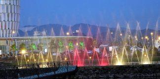 Узоры поющих фонтанов, поющие фонтаны, Батуми, Грузия