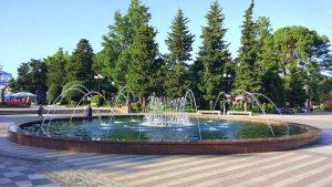 Фонтан на бульваре, поющие фонтаны, Батуми, Грузия